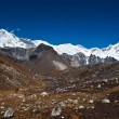 Royalty-Free Stock Photo: Cho oyu peak and mountain ridge in Himalayas
