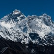 Everest, Nuptse and Lhotse peaks: top of the world — Stock Photo