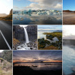 Iceland image collage — Stock Photo