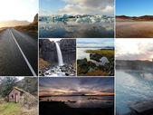 Iceland image collage — Stock Photo
