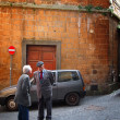 Typical italian street scene — Foto Stock
