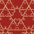 Gold seamless pattern on a red background — Stock Vector #10573107