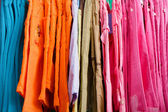 Children's trousers on a hanger in the store — Foto Stock