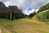 Cableway in Badia valley — Stock Photo