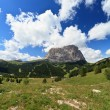 Gardena valley and Langkofel mount — Stock Photo