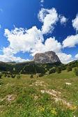 Gardena valley and Langkofel mount — Stock Photo
