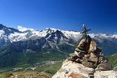 Tonale pass und presena berg — Stockfoto