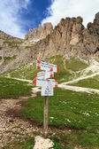 Directions in Dolomites — Stock Photo