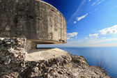 Bunker over the sea — Stock Photo