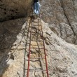Постер, плакат: Via ferrata iron ladder