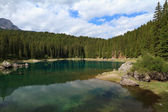 Carezza lake, Italy — Stock Photo