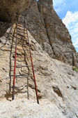 Via Ferrata - Italain Dolomites — Stock Photo