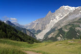 Mont Blanc from Ferret valley — Stock Photo