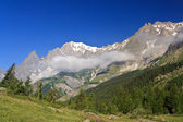 Ferret valley - Mont Blanc — Stock Photo