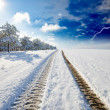 Stock Photo: Snowy winter road