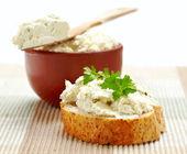 Fresh cream cheese — Stock Photo