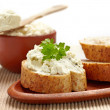 Bread with cream cheese — Foto de Stock