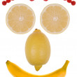Stock Photo: Funny face made from fruit