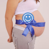 The birth of a boy it is desirable — Stock Photo