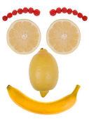 Komik surat meyvelerden yapılmış — Stok fotoğraf