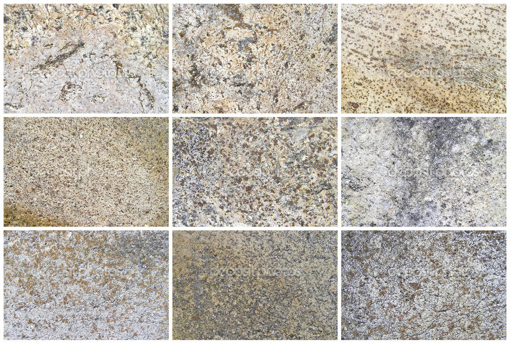 Nine Natural Limestone Background or textures. The real color. Without saturation of colors. — Stock Photo #10318530