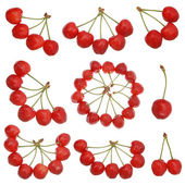 Viele rote kirschen — Stockfoto