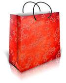 Gold gift bag — Stock Photo