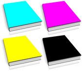 CMYK empty book template — Stock Photo