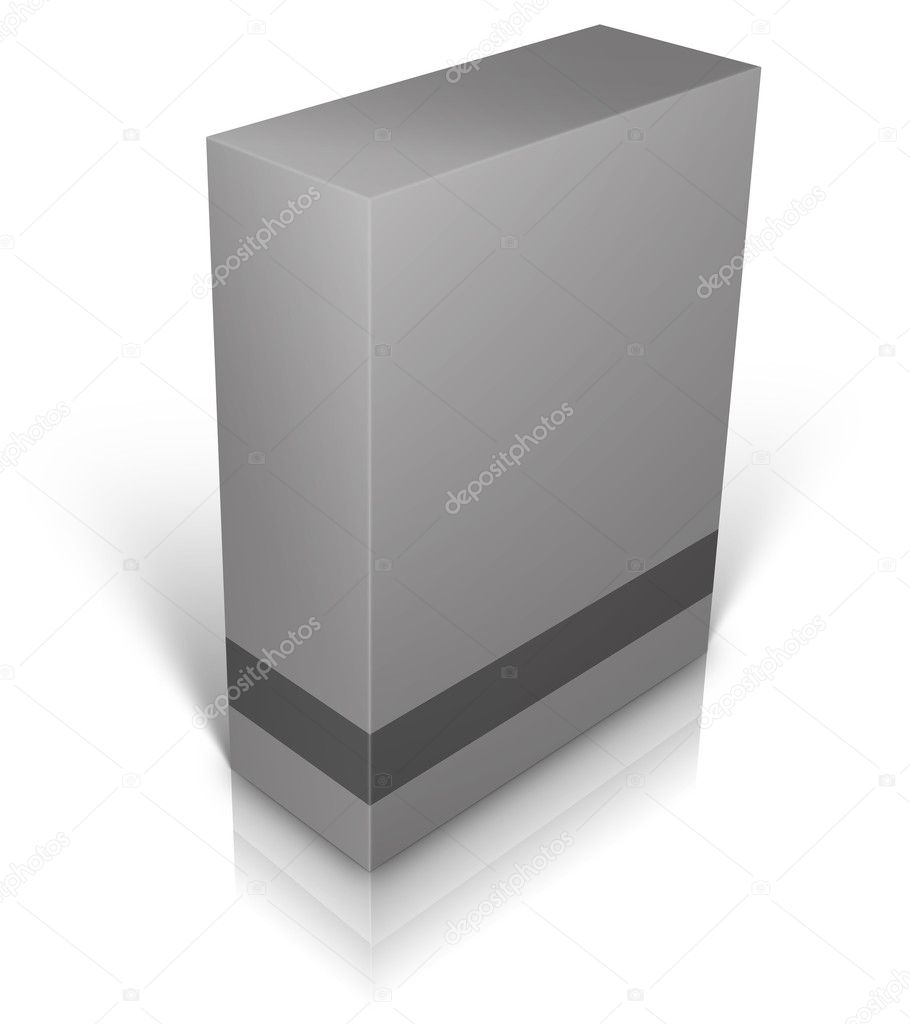 Grey blank box isolated on white background ready to be personalized by you. — Lizenzfreies Foto #8403760