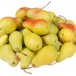 Stock Photo: Lot of pears on white