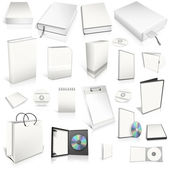 White 3d blank cover collection — Stock Photo