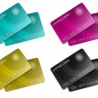 Stock Photo: Two membership cmyk Card
