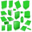 Green 3d blank cover collection — Stock Photo #9351294