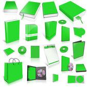 Groen 3d lege dekking collectie — Stockfoto