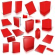 Red 3d blank cover collection — Stock Photo #9716044