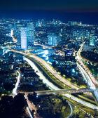 Paisaje urbano de noche — Foto de Stock