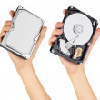 Stock Photo: Hard disk in hand