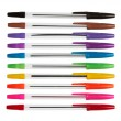 Set of color plastic ball-point pens — Stock Photo #8128717