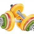 Fruit dumbbell - Stock Photo