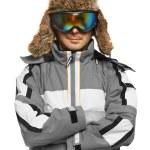 Man in ski goggles and sportswear — Stock Photo