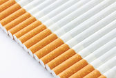 Closeup of a pile of cigarettes — Stock Photo