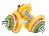Fruit dumbbell — Stock Photo
