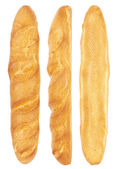 Long loaf from three sides — Stock Photo