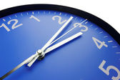 Blue clock face — Stock Photo