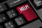 Computer Help key — Zdjęcie stockowe