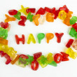 Assortment of colorful candy letters — Stock Photo