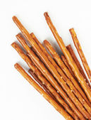 Pile of pretzel sticks — Stock Photo