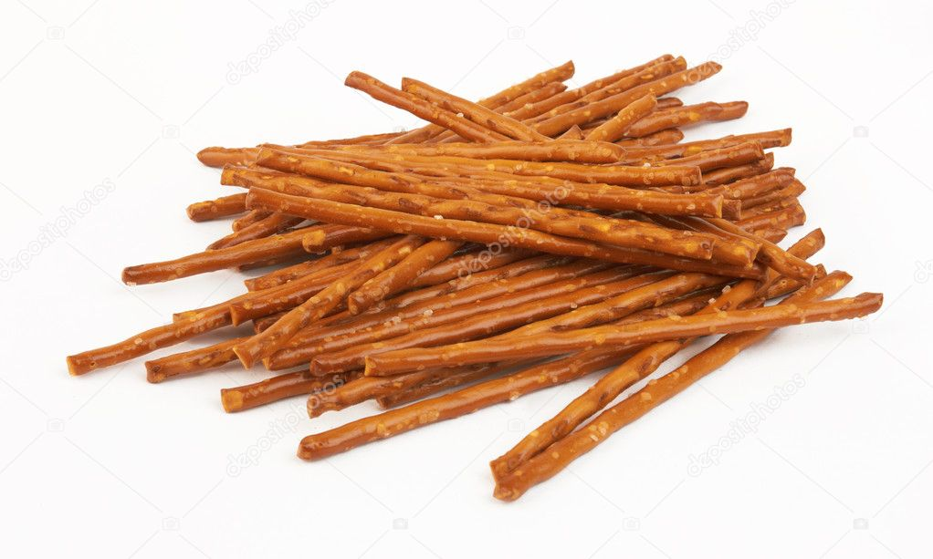 Closeup of a pile of pretzel sticks — Stock Photo #9699658