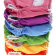 Stack of Eco Friendly Cloth Diapers — Stock Photo