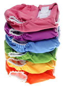Stack of Eco Friendly Cloth Diapers — ストック写真